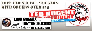 Ted Nugent Stickers