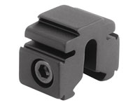 "BKL Single 3/8"" or 11mm Tri-Mount Dovetail Riser Mount, 0.60"" Long, Black"