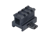 "UTG 3-Slot High-Profile Compact Riser Mount, 1"" High, Black"