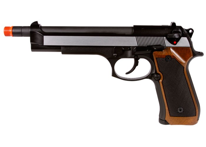 WE M92-2 Metal Extended Length Airsoft Gas  Pistol