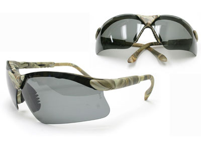 Radians Revelation Safety Glasses, Camo Frame, Smoke Lenses, Adjustable