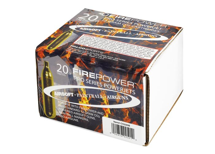 Firepower Swiss Arms 12g CO2 Cartridges, 20pk