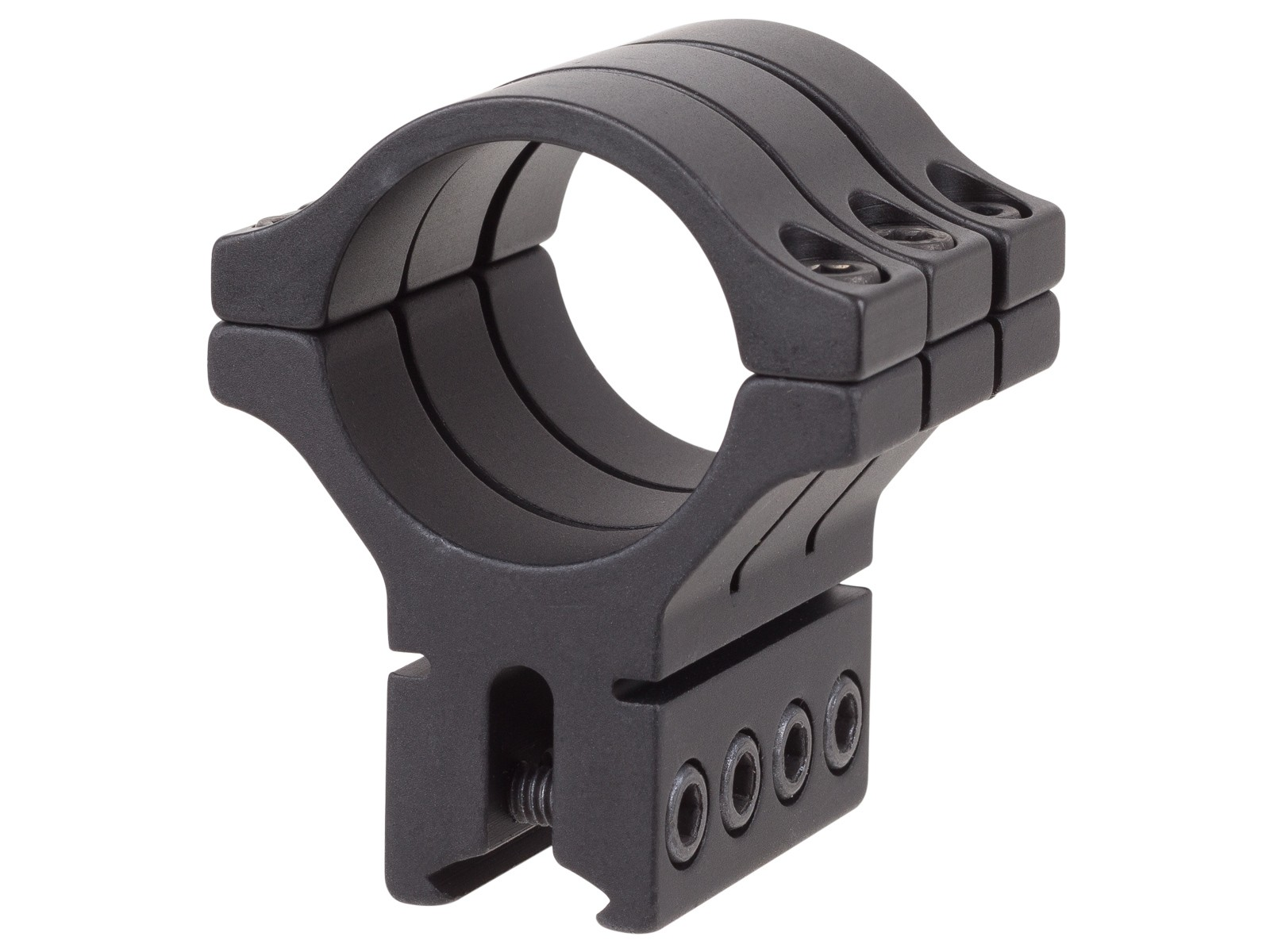 "BKL Single 30mm Triple Strap Ring, 3/8"" or 11mm Dovetail, 1.53"" Long, Black"