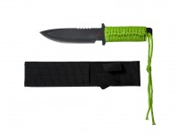 "Tactical Crusader Tactical Zombie Knife, 5-1/2"" Blade, Spear Point, Nylon Sheath"