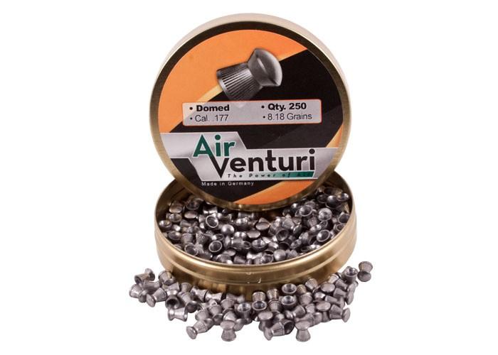 Air Venturi Pellets,  177 Cal, 8 18 Grains, Domed, 250ct